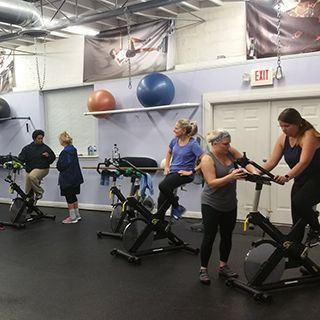 Cycle Group Class at Tate's Total Training